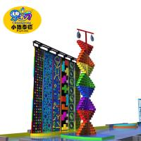 Quality Outdoor Park Kids Rock Climbing Wall Plastic Fiberglas Wood Material Anti - UV for sale