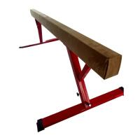 Wholesale Oval Shape 8 Foot Balance Beam , Comfortable Suede Balance Beam Height Adjustable from china suppliers