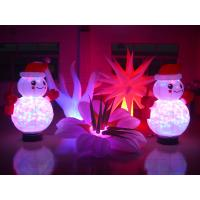 Wholesale 2m 1.5m Decorative Christmas Lighting Inflatable Snowman with Light from china suppliers