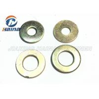 China Color Plated Flat Washers Plain Carbon Steel Round Head For Iron Stamping Out on sale