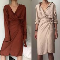 Wholesale 2018 Ladies Fall Linen Dress Loose Women Long Sleeve Autumn from china suppliers
