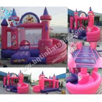 Wholesale Inflatable Princess Tower combo,inflatable princess bounce with slide from china suppliers
