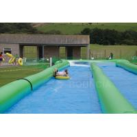 Wholesale 100m Giant Inflatable Slip N Slide With Pool For Kids And Adults from china suppliers