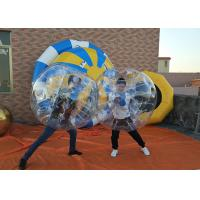 China Body Zorbing Bubble Ball Soccer , Clear Inflatable Human Soccer Balls on sale