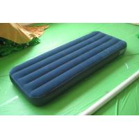Wholesale inflatable pvc flocking single air bed from china suppliers