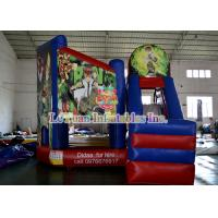 Wholesale Alien Warrior Inflatable Bouncy Castle With Slide , kids bounce house from china suppliers