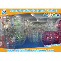 China Large Bubble Football Bubble TPU / PVC Plastic Bumper Soccer For Rolling Ball on sale