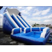 China Unti-riptured Commercial Inflatable Water Slides With Swimming Pool on sale