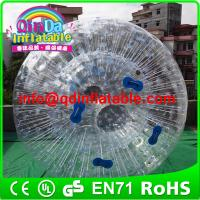 China QinDa Inflatable water zorb ball human hamster ball rolling ball for grass or hill on sale