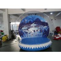 Buy cheap Large Inflatable Christmas Snow Globes 3m Diameter Hot Air Welding from wholesalers