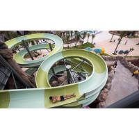Wholesale Water Park Construct Fiberglass Open Spiral Water Park Slide 400 Rider / H / Lane from china suppliers