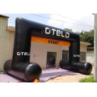 China Black Custom Inflatable Arch Oxford Cloth Material UV Protection on sale