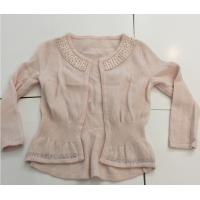 China Hot Fix Rhinestones Kids Knitted Sweater Cardigan Long Sleeve For Girls on sale