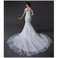 Quality Ladies Organza mermaid One Shoulder Wedding Gowns cathedral train wedding for sale