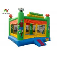 Wholesale Green Custom Outdoor Adult Inflatable Large PVC Tarpaulin Commercial Bouncy Castles for Rent from china suppliers