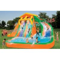 Wholesale 0.55mm PVC Tarpaulin Kids Giant Inflatable Pool Slides Toys Commercial Grade from china suppliers