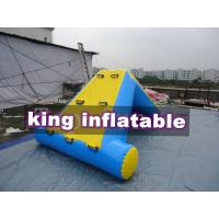 Commercial 0.9mm PVC Tarpaulin Inflatable Big Air Slide For Water Park