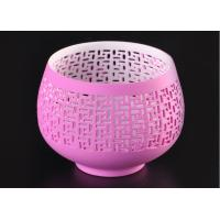 Wholesale pink hollow ceramic porcelain candle holders wholesale candlestick holders from china suppliers