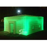 China 8x8 meters outdoor giant led light inflatable cube tent for parties or events etc on sale