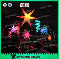 Wholesale Event Ceiling Inflatable Stage Decoration LED Star Light With 210T Polyester Cloth from china suppliers
