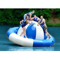 Wholesale Water Park Inflatable Saturn Rocker , Attractive Blue Inflatable Water Game Spinner from china suppliers