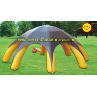 Wholesale Yellow 8 Spiders Durable 180OZ PVC Tarpaulin Inflatable Advertising Tent EN14960 from china suppliers