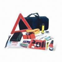 Auto Emergency Tool Kit with 1 Piece Knife, Candle and Blanket