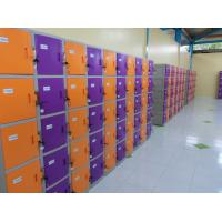 Wholesale ABS / Metal Coin Operated Lockers Anti UV Aging Commercial Gym Lockers from china suppliers