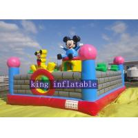 Wholesale Lovely Mickey Kids Inflatable Amusement Park For Jumping Fun 0.45mm - 0.55mm PVC from china suppliers