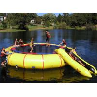 Wholesale 0.9mm PVC Tarpaulin Inflatable Water Trampoline Combo Used In Lake from china suppliers