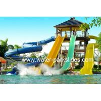 Buy cheap Customized Adults Water Park Slides , 6 m Height Aqua Park Equipment from wholesalers