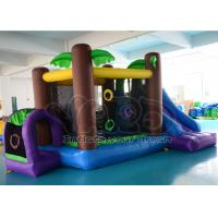 China CE PVC Jungle Inflatable Blow Up Bounce House Slide , Inflatables For Party on sale