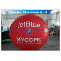 Wholesale Inflatable Big Advertising Balloons , Red Air Balloon Advertising Helium Ball from china suppliers