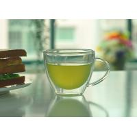 Wholesale Double Walled Glass Tea Cups With Handle Heat Resistant Borosilicate Glass from china suppliers