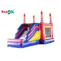 China Kids Inflatable Bouncers With Slide Birthday Bounce House For Entertainment on sale