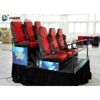 Platform 6 Seats 5D Cinema System Electric Pneumatic System Bubble Wind Effects