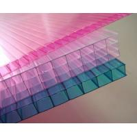 Wholesale Customized Pink / Blue / Orange Soundproof Polycarbonate Hollow Sheet For Stadiums from china suppliers