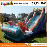 Wholesale Fun Bouncer Slideway Commercial Inflatable Slide Big Kahuna Inflatable Water Slide from china suppliers
