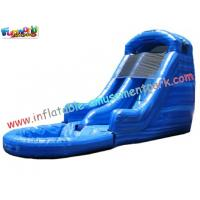 Quality Commercial grade 0.55mm PVC tarpaulin Double Outdoor Inflatable Water Slides for Kids for sale