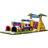 Wholesale 0.55mm PVC Outdoor Commercial Blow Up Inflatable Obstacle Courses For Adult YHOB 009 from china suppliers