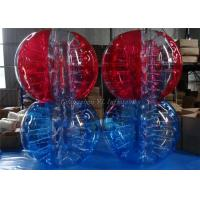 Wholesale Outdoor Inflatable Body Bubble Ball , Colored Striped Soccer Bubble Ball from china suppliers