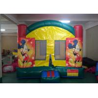 Wholesale Digital Printing Mickey Mouse Inflatable Bounce House With Changeable Banner For Kids from china suppliers