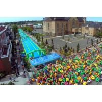 China 300 Meters Long Air Sealed Giant Inflatable Water Slide For A Family Fun Day on sale
