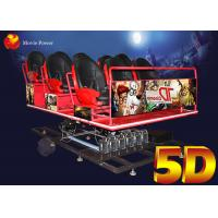 China Wind Fog Smell Virtual Reality 5 D Movie Theater / 5D Sinema With 100pics Films on sale
