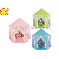 China Plastic Pipes Inflatable Tent , Princess Castle Tent 140*135cm For Foster Imaginative on sale