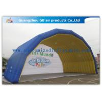 China Blue Arch Tent Hand Printing Inflatable Air Tent Dome Inflatable Stage for Event on sale