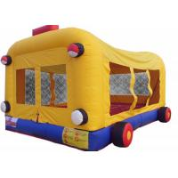Wholesale Kids Jumper Inflatable Bouncer Combo Bus Themed With Double Stitching from china suppliers