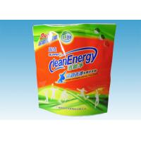 Wholesale Custom Printed Stand Up Pouches , washing powder packaging bags With Three Handles from china suppliers
