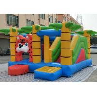 Wholesale Three In One Inflatable Bounce House Combo Jungle Themed Tiger Jumper With Sport Obstacles from china suppliers