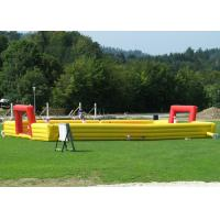 Wholesale Waterproof Giant Inflatable Soccer Game , Blow Up Football Game Highly Safe Air Flap from china suppliers